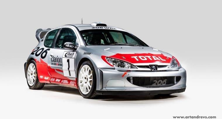 206 WRC prête pour la course