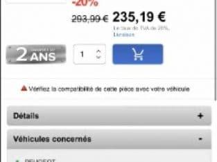 Phare Gauche 206 – Fond Noir
