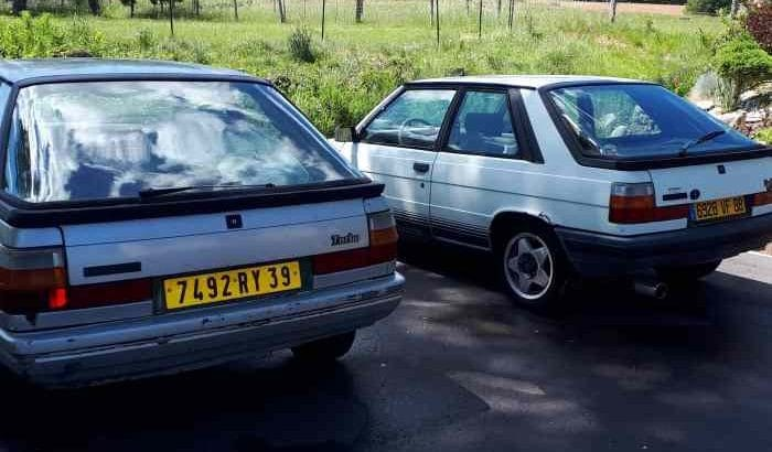 Lot deux R11 turbo 3 portes
