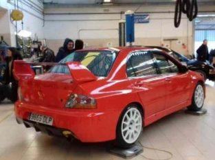 Mitsubishi evo 8 con golpe
